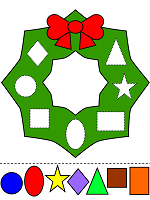 christmas wreath fun colors and shapes activity