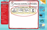 external link to classroom activities and seussville
