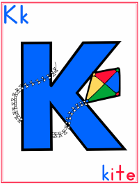Alphabet Letter K Kite Preschool Lesson Plan Printable Activities and Worksheets