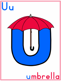 photo regarding Umbrella Printable titled Alphabet Letter U Umbrella Preschool Lesson Software Printable