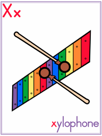 Letter X Alphabet Printable Activities Coloring Pages, Posters, Handwriting Worksheets