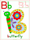 letter b butterfly activities