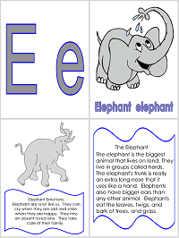 First-School.ws Elephant Theme Preschool Lesson Plan Printable Activities