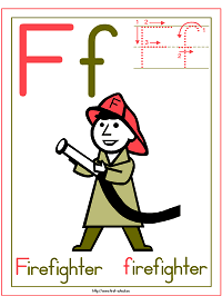 Alphabet Letter F Firefighter Preschool Lesson Plan Printable Activities and Worksheets