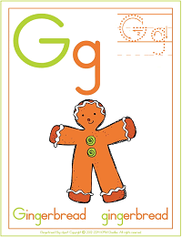 Alphabet Letter G Gingerbread Preschool Lesson Plan Printable Activities and Worksheets