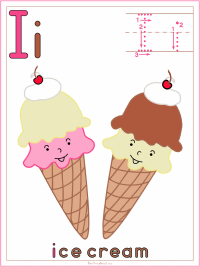 Alphabet Letter I Ice Cream
