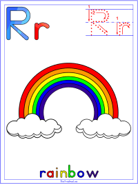 Alphabet Letter R Rainbow Preschool Lesson Plan Printable Activities and Worksheets