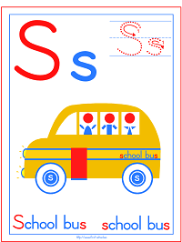 Alphabet Letter S School bus Preschool Lesson Plan Printable Activities and Worksheets