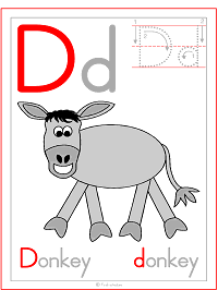 Alphabet Letter D Donkey Preschool Lesson Plan Printable Activities and Worksheets