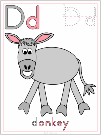 photo relating to Printable D&d Miniatures titled Alphabet Letter D Printable Functions: Coloring Web pages