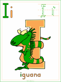 Alphabet Letter I Iguana Preschool Lesson Plan Printable Activities and Worksheets