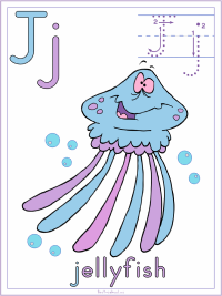 Alphabet Letter J Jellyfish Preschool Lesson Plan Printable Activities and Worksheets