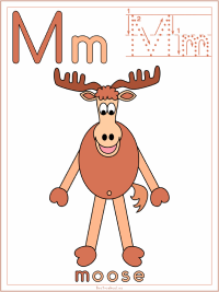 Alphabet Letter M Moose