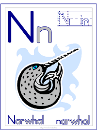 Alphabet Letter N Narwhal Preschool Lesson Plan Printable Activities and Worksheets