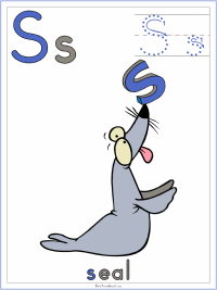Alphabet Letter S Seal