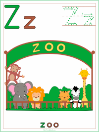 Letter Z Alphabet Printable Activities Coloring Pages, Posters, Handwriting Worksheets