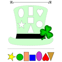 leprechaun hat template printable - st patrick 39 s day hat colors and shapes preschool lesson