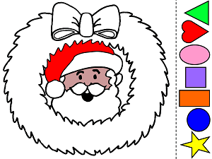 graphic regarding Santa Claus Printable identified as Santa Claus Hues and Styles Preschool Printable Match