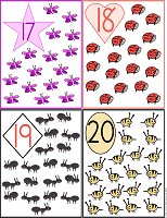 printable flash cards 17 to 20 farm animals