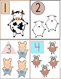 Printable Flash Cards: Numbers and Shapes