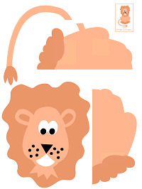 picture regarding Printable Puzzles for Preschoolers referred to as Lion Printable Puzzles Home made Toy Preschool Lesson