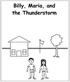 Billy, Maria and the Thunderstorm Coloring Book