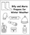 Billy and Maria Prepare for Winter Weather Coloring Book