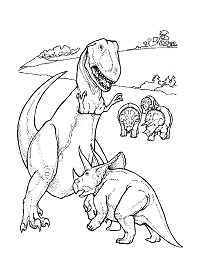 Dinosaurs And Extinct Animals Coloring Pages