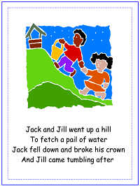 Jack and Jill Nursery Rhyme | Craft | Alphabet Letter J Preschool Lesson Plan Printable Activities