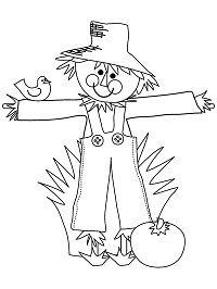Scarecrows Coloring Pages Autumn or Halloween