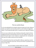 the lion and the mouse fable story card