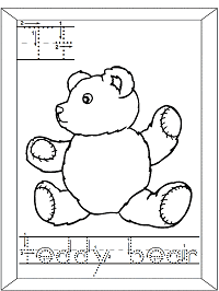 Teddy Bear Coloring Pages Page 1