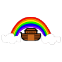 rainbow and noah's ark printable craft