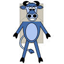 Cow Paper Bag Craft or Craft Stick Puppet