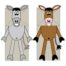 Donkey Paper Bag Puppet Craft