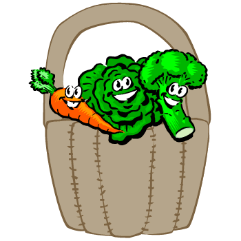 Vegetables Basket Craft: Broccoli, Carrots and Leafy Green | Nutrition Preschool Activity