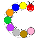 Centipede circles and colors craft