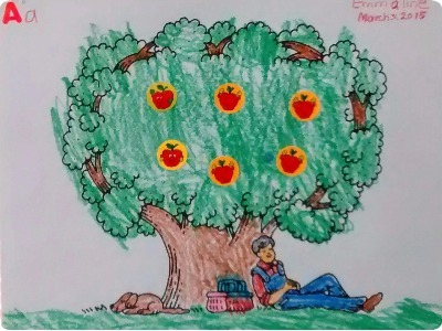 Johnny Appleseed John Chapman Color by Number : Printables for ...   300x400
