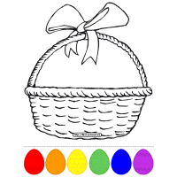 Easter Eggs Basket Craft to Learn Colors and Numbers