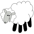 Handprint Lamb or Sheep Craft