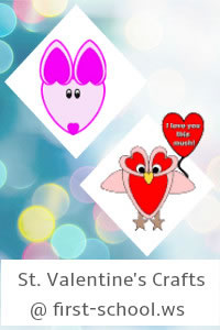St. Valentine's Day Preschool Activities and Crafts