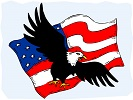 United States Flag and Bald Eagle Online Jigsaw Puzzle