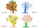 A Tree in Four Season online jigsaw puzzle