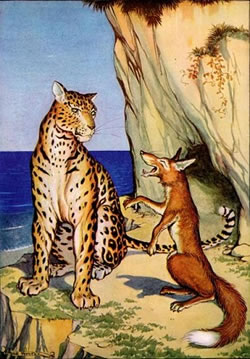 Aesop's Fable: The Fox and the Leopard