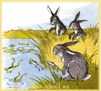 aesop's fable the hares and the frogs